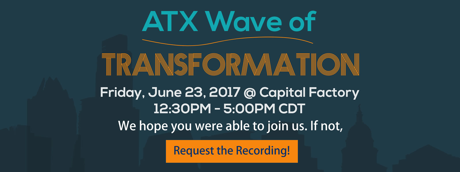 Click Here to Request the ATX Wave recordings