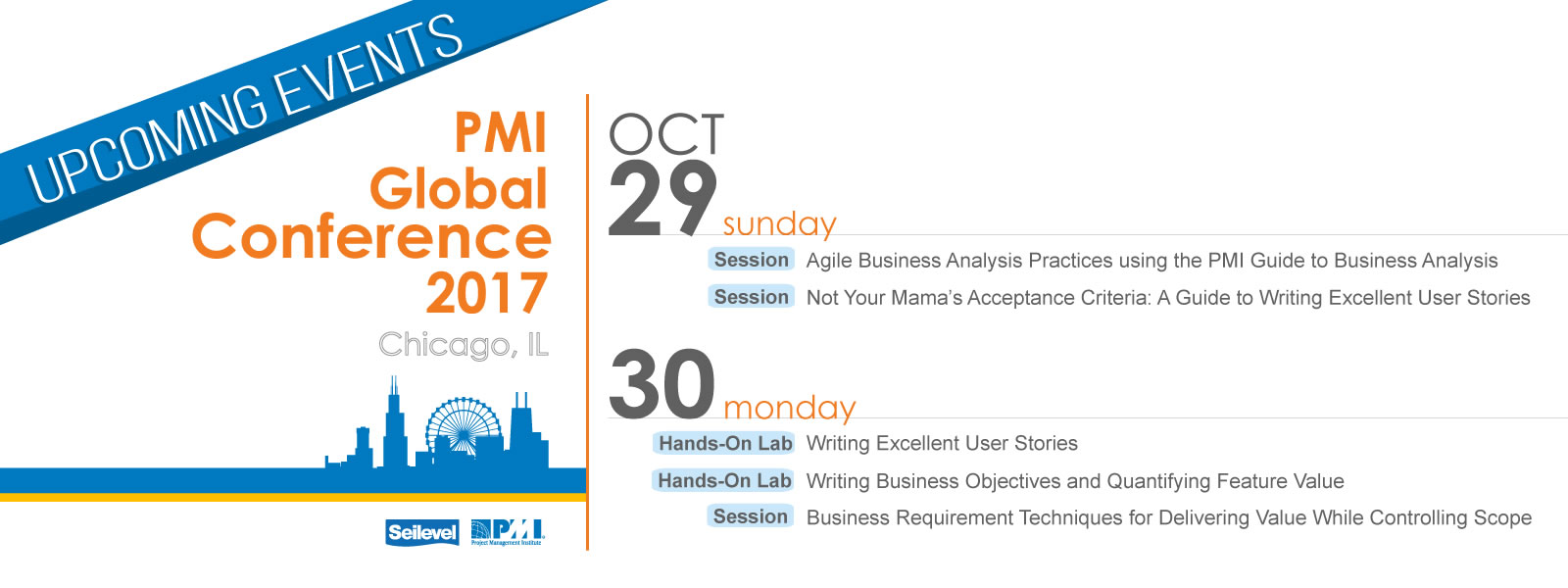 Upcoming Events - PMI Global Conference 2017